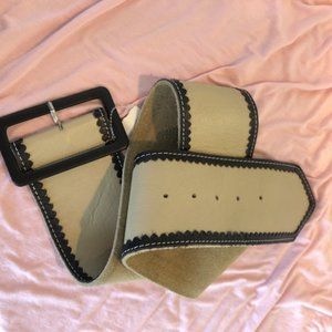 Michelle Flaher Genuine Leather Wide Belt S/M NWT